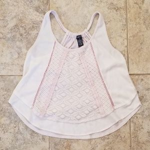 Rue21 Good Condition Pink Lace Tank Top Hal